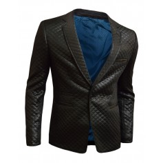 Quilted Black Blazer