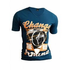T-Shirt Cadilac Vintage Colourful Overprint  T Shirts & Polos