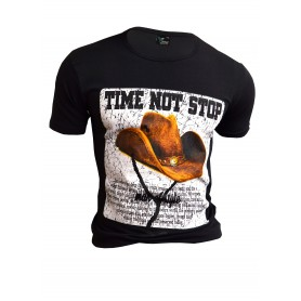 T-Shirt Cowboy Hat Overprint