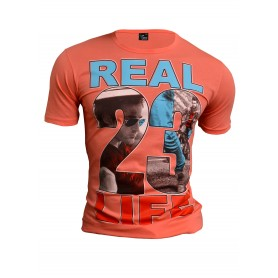 T-Shirt Real Life Overprint  Home