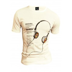 T-Shirt Headphones Music Overprint