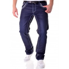Low Waist Dark Blue Jeans
