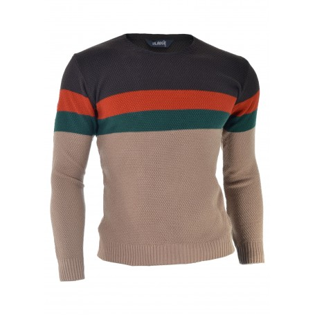 Multi Coloured U-Neck Sweater  Sweaters and Cardigans