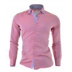 Shirt Red Pink Blue Brown Overlapping Layers Free Cufflinks