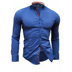 Shirt Casual Formal Stand-Up Collar Slim Fit Decorative Band  Casual and Formal Shirts