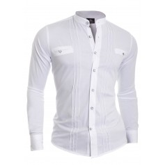 Luxury Grandad Slim Fit Shirt
