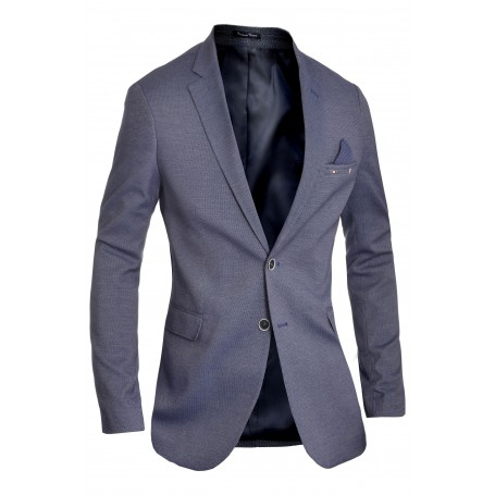 Men's Classic Design Blazer Jacket Blue Casual Contrast Finish Slim  Blazers