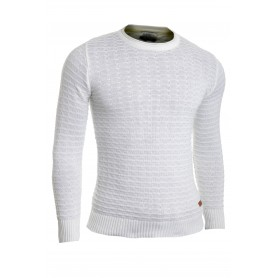 Men's Wool Jumper Knit Smart Long Sleeve Sweater Crew Neck Check Top Slim  Sweaters and Cardigans