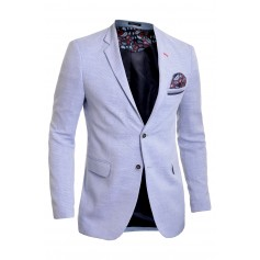Mens Blazer Jacket Casual Formal Spotted Pattern Paisley Finish
