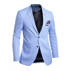 Men's Blazer Jacket Casual Formal Herringbone Pattern 9 Colours