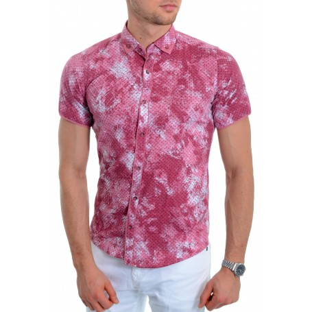 Men's Vivid short sleeve shirt Cotton Chequered finish  Casual and Formal Shirts