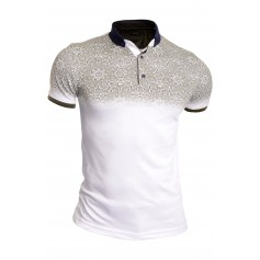 Mens Casual Polo T Shirt Short Sleeve Thin Soft Cotton Paisley Pattern  T Shirts & Polos