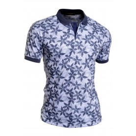 Men's Casual Polo T Shirt UK Size Short Sleeve Soft Cotton Floral  T Shirts & Polos