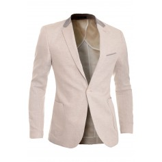 Cipo & Baxx Mens Linen Blazer Jacket Casual Formal Elbow Patches Slim Fit Summer  Blazers