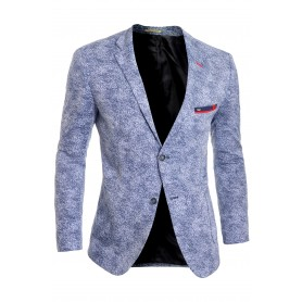 Men's Navy Blue Blazer Jacket Casual Spotted Slim Fit Summer Red Finish Cotton  Blazers
