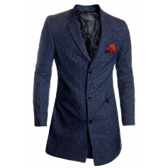Men's Winter Overcoat 3/4 Long Jacket Tweed Cashmere Soft Fabric Trendy Colours