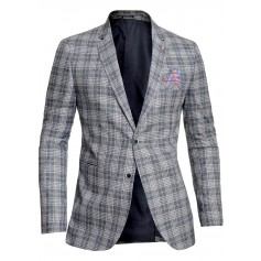 Casual Check Blazer For Men Smart Suit Jacket Beige Black Cherry Cotton Slim Fit  Blazers