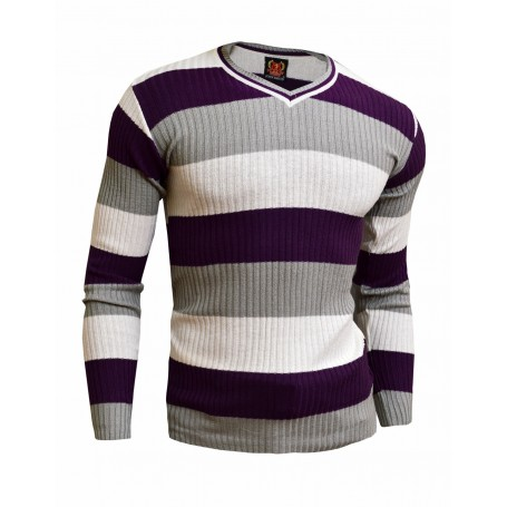 Classic Sweater with Stripes  Sweaters and Cardigans