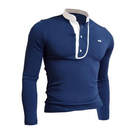 Grandad collar longsleeve top  Long Sleeve Tops