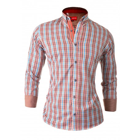 Check Shirt with Roll-Up Sleeve Casual and Formal Shirts 0189a0802