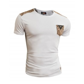 Mens Leopard Finishings T-Shirt  T Shirts & Polos