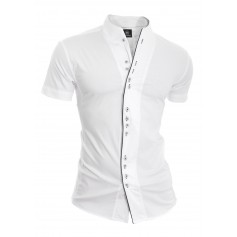 Piping Shirt with Short Sleeve  Casual and Formal Shirts