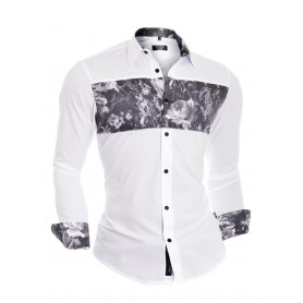 Flower Overprint Shirt  Casual and Formal Shirts