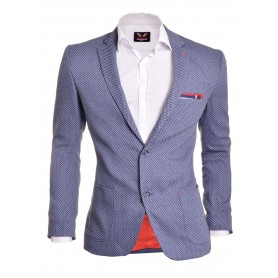 Casual Look Blazer Slim Fit Chevron Red Finish  Blazers