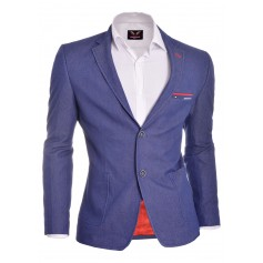 Casual Look Slim Fit Blazer with Red Finish