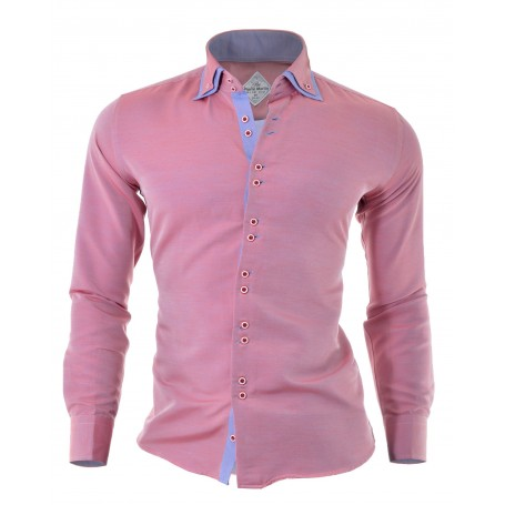 Shirt Red Pink Blue Brown Overlapping Layers Free Cufflinks  Casual and Formal Shirts