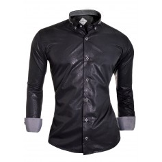 Casual slim fit Shirt long sleeve Cufflinks Snake Skin  Casual and Formal Shirts