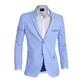 Stylish Thin Check Pattern Blazer  Blazers
