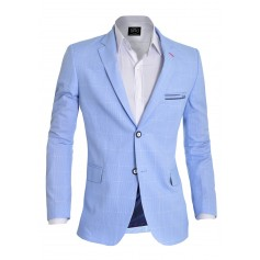 Stylish Thin Check Pattern Blazer