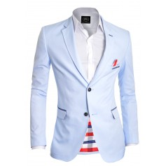 Baby blue Stylish Summer Blazer Check Finish  Blazers