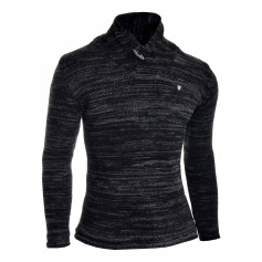 Mens funnel neck pullover thick knit