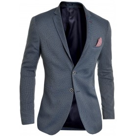 Men's Blazer Navy Classic Deisgn Red Finish Slim Fit Soft Cotton  Blazers