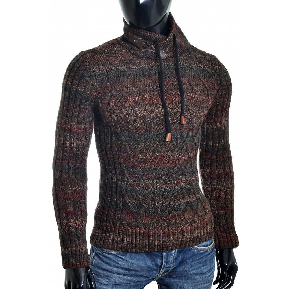 Maroon Cable Knit Sweater