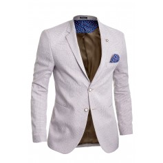 Mens Blazer Jacket Casual Formal Check Pattern Contrast Buttons