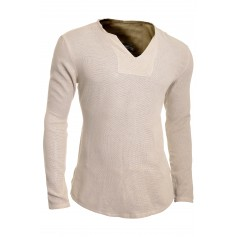 Men's Casual V Neck Shirt Summer Linen like 100% Cotton Slim Fit Long Sleeve  Casual and Formal Shirts