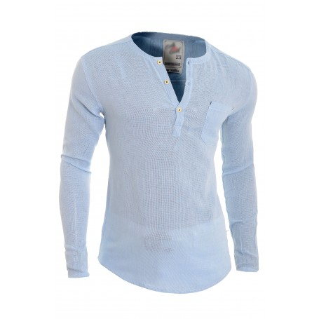 70cb2078772 Men s Casual V Neck Canvas Shirt Henley Summer 100% Cotton Slim Fit Long  Sleeve Casual