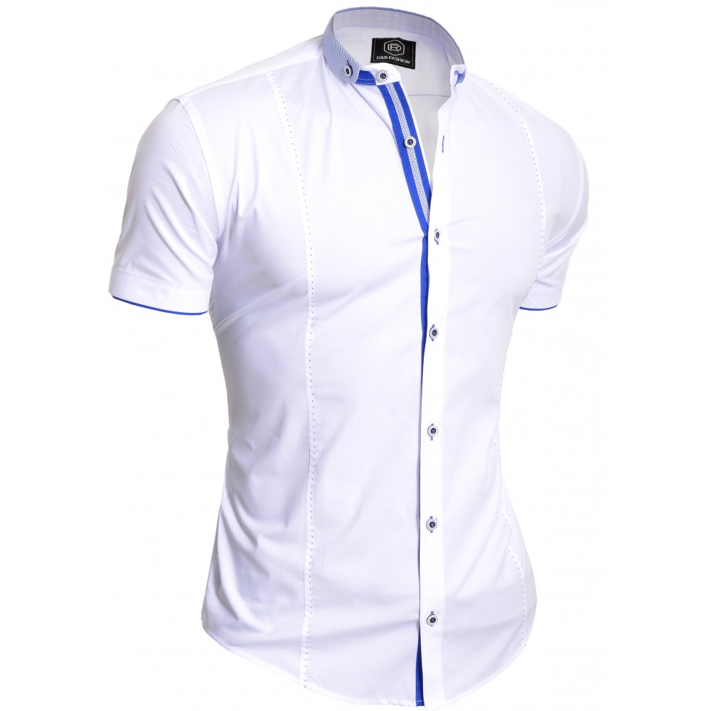 3b6eded5f09 Royal Blue Dress Shirt With White Collar